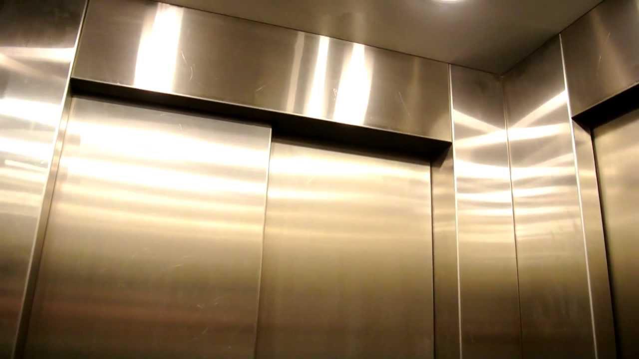1990u0027s KONE M Series Elevator With Two Doors Over 90 Degrees In Copenhagen