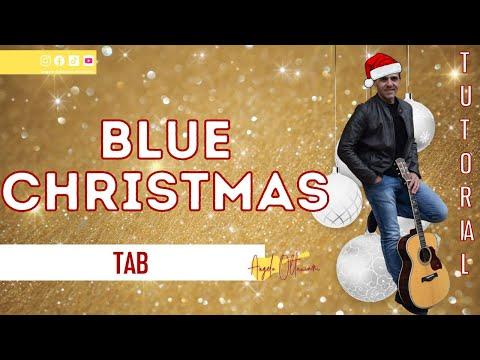 BLUE CHRISTMAS - ELVIS PRESLEY - How to Play - Guitar