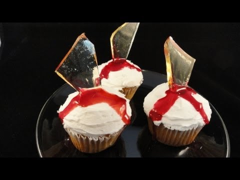"decorating-cupcakes-#113:-broken-glass-""dexter""-cupcakes--with-yoyomax12"