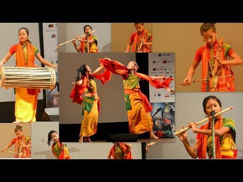 Traditional Music Performance By Bodo Girls @TU | SIFUNG HARIMU AFAD | सिफुं_हारिमु_आफाद)