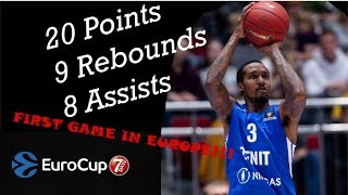 Brandon Jennings Europe Debut!!! 20 Pts, 9 Rebs, 8 Asts 03.10.2018 Zenit vs Turk Telekom | UF44