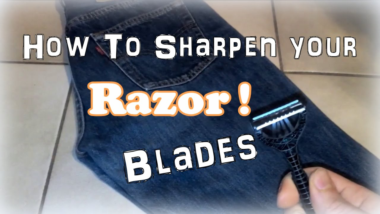Image result for extending the life of a razor using old blue jeans""