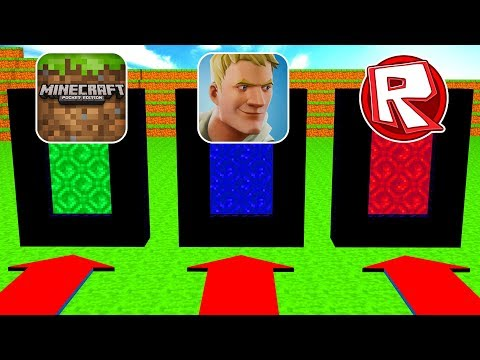 Do Not Choose The Wrong Portal (Minecraft, Fortnite, Roblox)