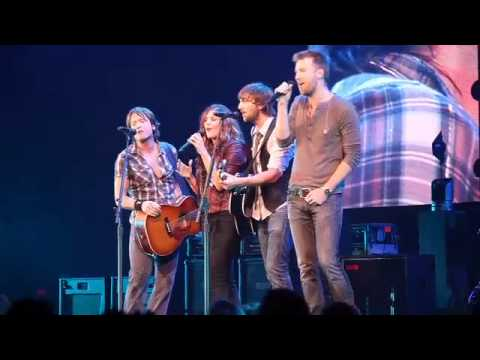 Lady Antebellum sings Seven Bridges Road with Keith Urban