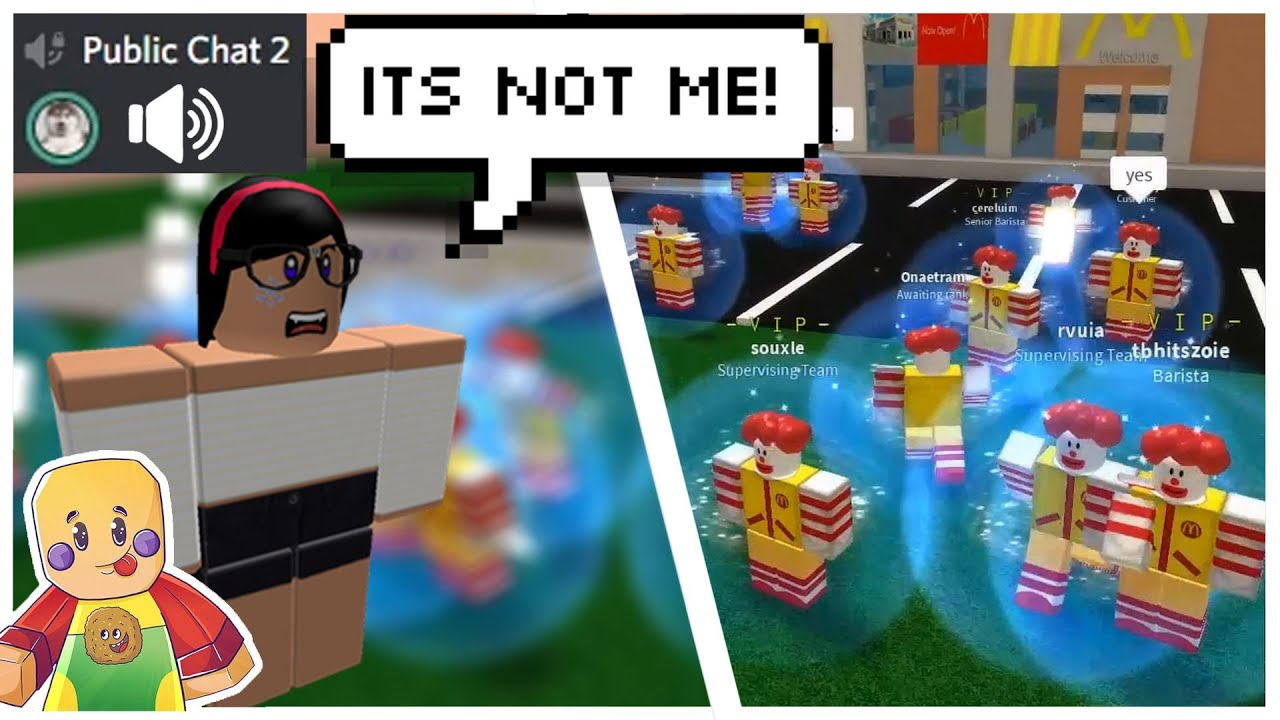 Trolling Cafe Employees In Voice Chat- Roblox Exploiting