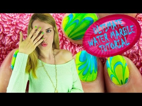 Thumbnail: Water Marble Nail Art! How to Water Marble Your Nails Step by Step Tips for BEGINNERS!