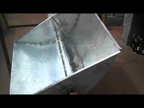 $40 Open Source Solar Cooker - Boils Water