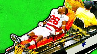 NFL Players STRETCHERED Off The Field