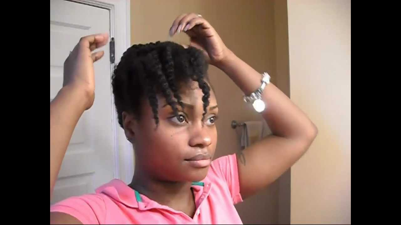 Fine Natural Hair Textured Twist Out Pinup Updo Youtube