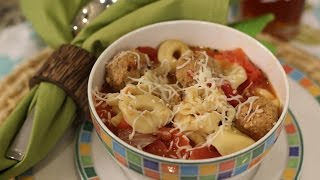 Tortellini and Meatball Soup - Crockin Girls