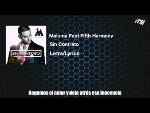 Maluma Feat Fifth HarmonySin ContratoLetraLyricsAudio