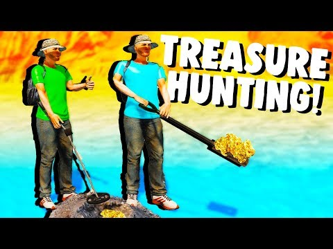 TREASURE HUNTING for GOLD and OLD COINS! - Awesome Metal Detecting Finds - Metal Detector Game