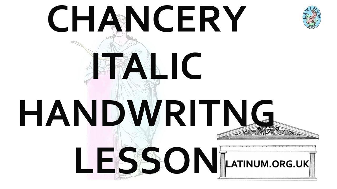 School Room Chancery Italic