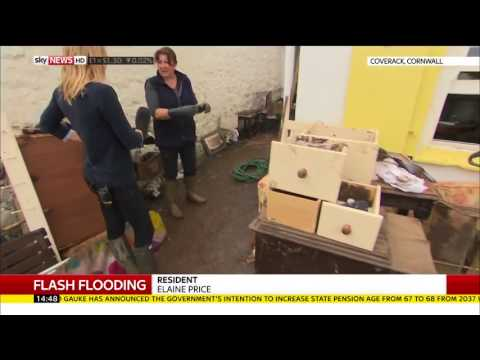 Coverack flood clean-up - Rebecca Williams reports
