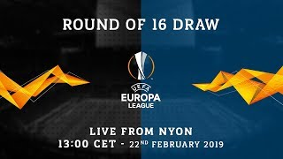 LIVE | UEFA EUROPA LEAGUE ROUND OF 16 DRAW | #ForzaInter ⚫🔵
