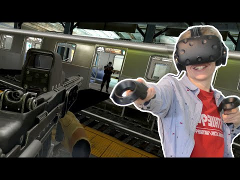 MULTIPLAYER SHOOTER IN THE SUBWAY!   Onward VR (HTC Vive Gameplay)