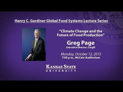 Henry C. Gardiner Global Food Systems Lecture | Greg Page