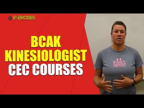 BCAK Kinesiologist CEC Courses