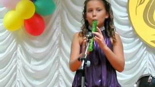 Игра на блок флейте Сабирова Диана