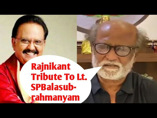 @Rajnikanth Pays A Tribute To The Late *#SPBalasubrahmanyam* With A Special Video.