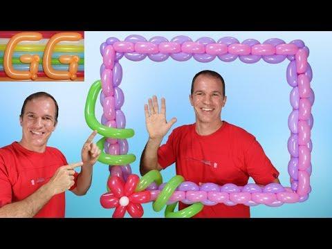 marco para fotos gigante para fiestas - marco de globos para fotos - globoflexia