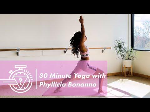 30 Minute Yoga Flow Led By Phyllicia Bonanno | #GU...