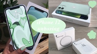 iPhone 12 unboxing + accessories 🌿
