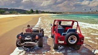 Forza Horizon 3 - Racha Na Água - Jeep Motor de Lamborghini VS Buggy Motor de Ferrari