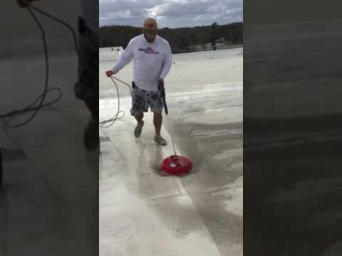 Keep your single ply roof clean.