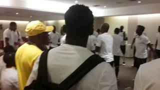 Ghana Black Stars players singing before World Cup match against Germany