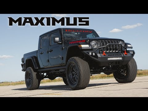 Hennessey's 1,000-hp Hellcat-powered Jeep Gladiator Maximus is going to SEMA