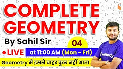 11:00 AM - Geometry by Sahil Sir | Complete Geometry Concepts with Tricks (Part-4)