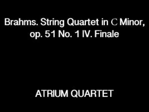 Brahms. String Quartet in С Minor, op. 51 No. 1 IV. Finale - ATRIUM QUARTET