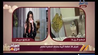 منة فاروق : ماتردد عن تعرض 38 قطعة أثرية للكسر شائعة .. فيديو