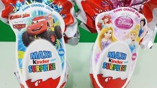 Surprise Eggs Maxi Kinder Surprise Disney Pixar Cars Disney Princess Easter Edition