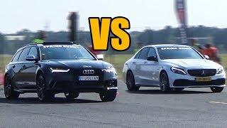 Audi RS6 vs Mercedes-Benz C63S AMG - DRAG RACE!