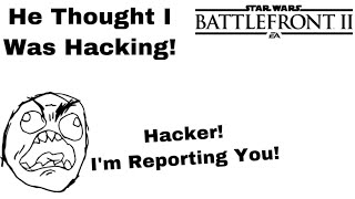 He Thought I Was Hacking! Palpatine Killstreak Star Wars Battlefront 2