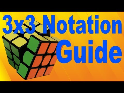 Complete 3x3 Notation Guide (Slices, Rotations, etc.)