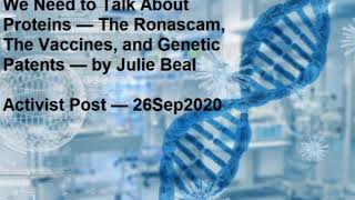 Julie Beal On Covid RonaVax: Selling Gene Editing Vax