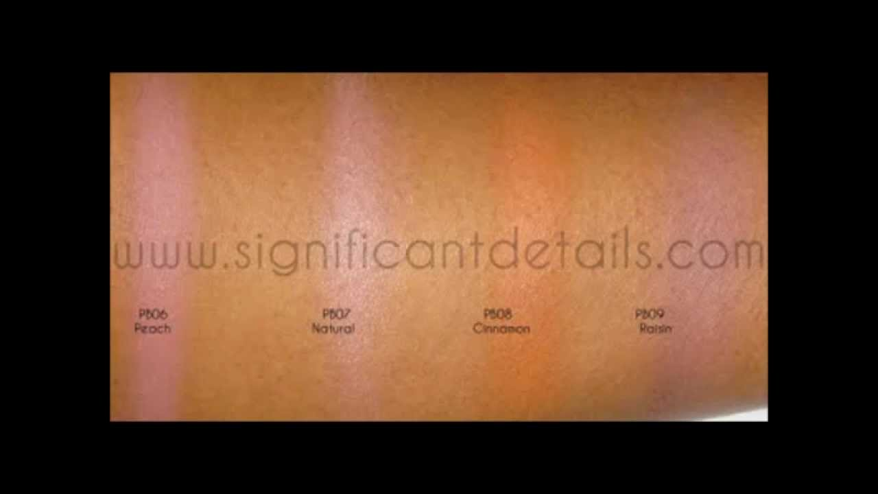 NYX Powder Blush Swatches - All Colours - YouTube
