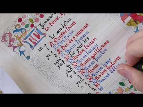 Book of Hours Calligraphy and Illumination: January