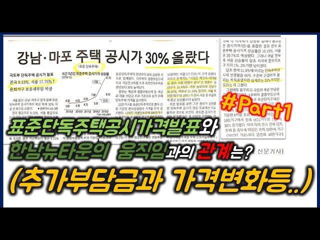 (수정본)2019년 2월1일 한남뉴타운 표준주택가격 상승율과 영향은? part1