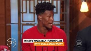 "McGrady asks Jimmy Butler ""Whose team Chicago Bulls is?"" 