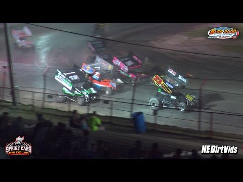 Highlights: Sprint Cars of New England Bear Ridge Speedway 5 28 2016