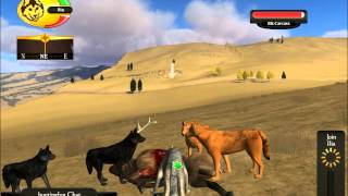 WolfQuest Multiplayer - Bull hunting