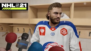 NHL 21 BE A PRO #1 *RUSTY GOES TO EUROPE*