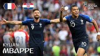 kylian mbappe goal  france v croatia - 2018 fifa world cup final