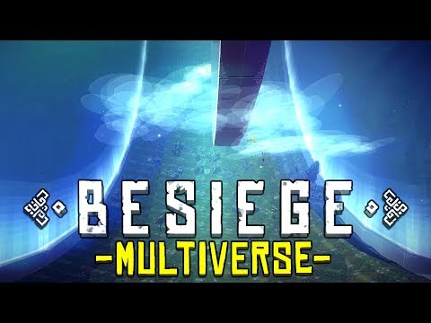 Besiege Multiverse - MULTIPLAYER RACE ON A HALO RING! - Massive Update - Besiege Multiverse Gameplay