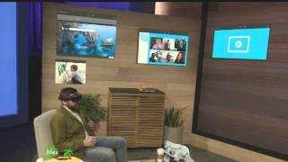 Microsoft HoloLens demo onstage at BUILD 2015
