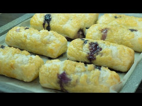 Blueberry Cream Cheese Pastries | Puff pastry recipes ideas